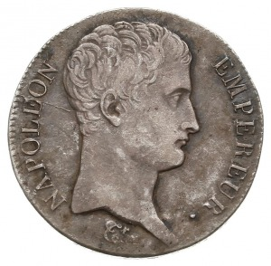 5 franków 1806 BB, Strasbourg, Gad. 581, drobne uszkodz...