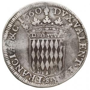1/2 ecu (30 sols) 1660, Aw: Popiersie w prawo, HON II D...