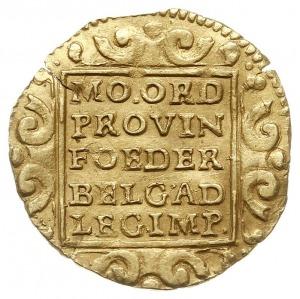Utrecht, dukat 1708, odmiana bez wewnętrznej obwódki na...