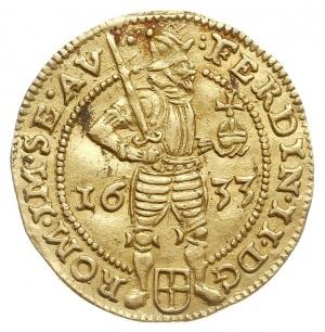 Zwolle, dukat 1653, z tytulaturą cesarza Ferdynanda II,...