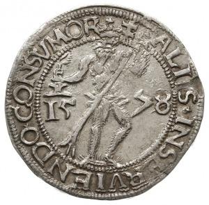 1/4 talara 1578, Welter 591, srebro 7.18 g, bardzo ładn...