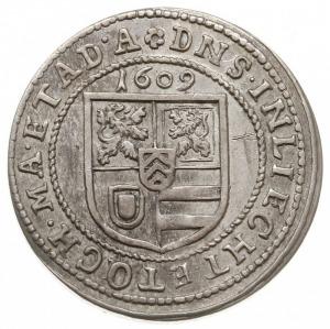 teston 1609, Wörth lub Babenhausen, Aw: Popiersie hrabi...
