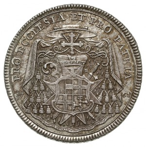 talar 1761, Augsburg, Aw: Popiersie biskupa w lewo, For...