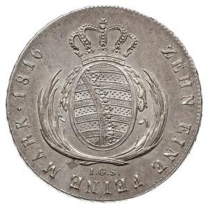 talar 1816 IGS, Drezno, srebro 27.89 g, Thun 293, Dav. ...