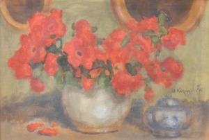 Alfons KARPIŃSKI, Kwiaty w wazonie