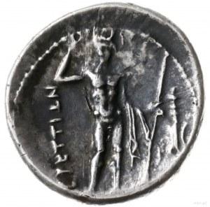 drachma, ok. 216-214 pne; Aw: Udrapowane popiersie Nike...