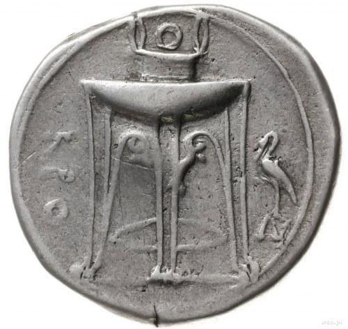 stater, ok 350 - 300 pne; Aw: Orzeł w lewo, z rozpostar...