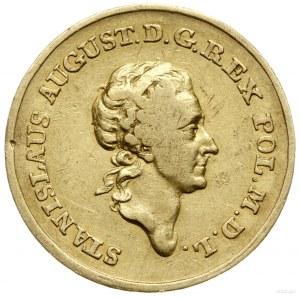 próbna dwuzłotówka (odbitka w złocie) 1771, Warszawa; A...