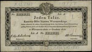 1 talar 1.12.1810, litera A, numeracja 30032, podpis ko...