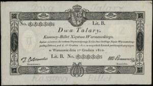 2 talary 1.12.1810, litera B, numeracja 43630, podpis k...