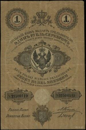 1 rubel srebrem 1864, seria 194, numeracja 1150519, pod...