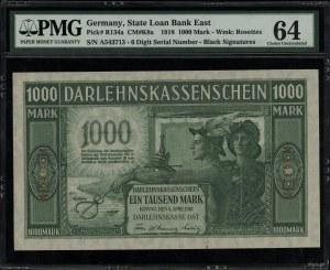 1.000 marek 4.04.1918, Kowno, seria A, numeracja 542713...