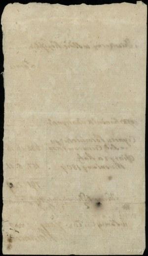 kwit dziesięciny z parafii Łomża z 27.07.1809, opiewają...