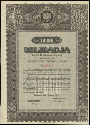 II Rzeczpospolita Polska 1918-1939; obligacja II-ej ser...