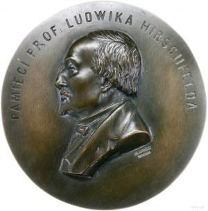 plakieta - pamięci prof. Ludwika Hirschfelda; Popiersie...
