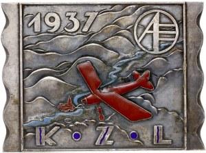plakieta - Krajowe Zawody Lotnicze, 1937; W prostokącie...