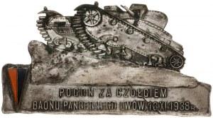 plakieta, Pogoń za Czołgiem Baonu Pancernego Lwów, 1938...