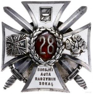 oficerska odznaka pamiątkowa 28. Pułku Strzelców Kaniow...