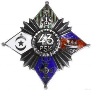 oficerska odznaka pamiątkowa 43. Pułku Strzelców Legion...