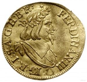 dukat 1647, mennica Brno; Aw: Popiersie władcy w wieńcu...