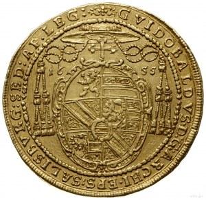 6 dukatów 1655, mennica Salzburg; odmiana średnicy 36 m...