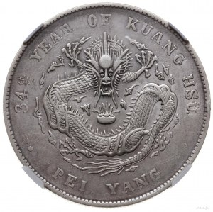 "dolar 1908 (rok 34), mennica Tiencin; Aw: Inskrypcja ""K..."