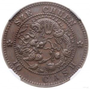 "10 cash, bez daty (1903-1905); Aw: Inskrypcja: ""Kuang-h..."