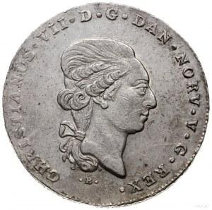 talar (60 szylingów), 1807, mennica Altona; Aw: Głowa k...