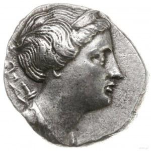 didrachma, 258-202 pne; Aw: Popiersie Artemis zwrócone ...