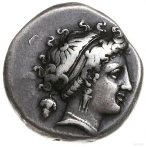 didrachma, 320-300 pne; Aw: Głowa nimfy w diademie, zwr...