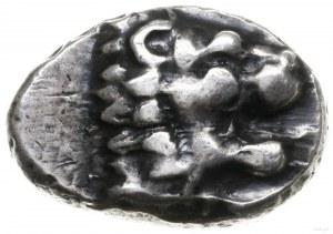 drachma, 411-394 pne; Aw: Protom lwa w prawo; Rw: Głowa...