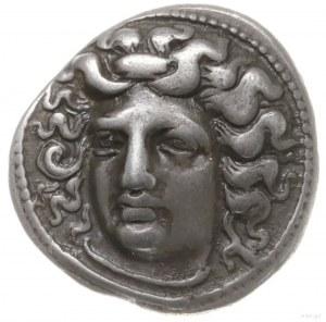 drachma, 365-356 pne; Aw: Głowa nimfy Larisy zwrócona l...