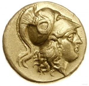 stater, 323-317 pne, mennica Abydos; Aw: Głowa Ateny w ...