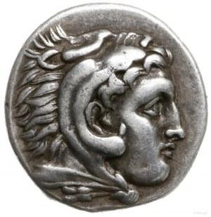 drachma, 310-301 pne, mennica Abydos; Aw: Głowa Herakle...