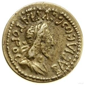 stater 459 r. (AD 162); Aw: Popiersie króla z długimi w...