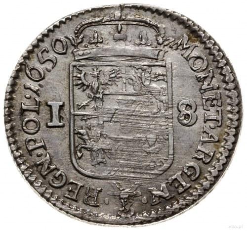 ort 1650, Wschowa; odmiana z napisem na awersie IOAN CA...