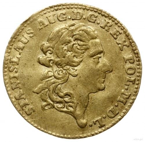 dukat 1775 EB, Warszawa; Aw: Głowa króla zwrócona w pra...