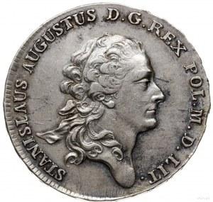 półtalar 1782, Warszawa; Aw: Głowa króla w prawo, wokoł...