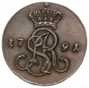 grosz 1791, Warszawa; wariant z literami E.B. (inicjały...