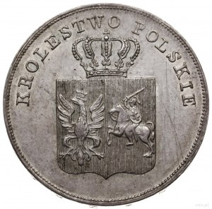 5 złotych 1831, Warszawa; na rewersie ułamek 211/625 z ...