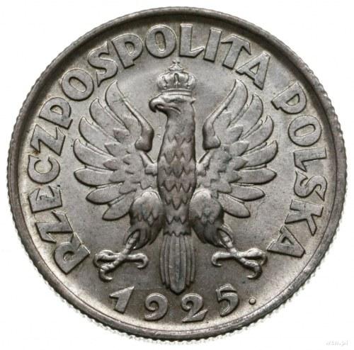 1 złoty 1925, Londyn; głowa kobiety z kłosami; Parchimo...
