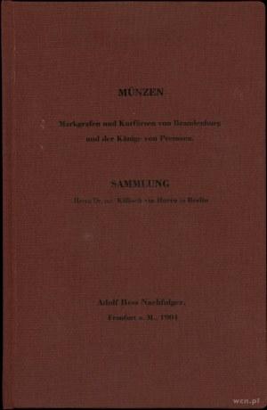 Adolph Hess Nachf., Münzen der Markgrafen und Kurfürste...