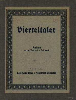 Leo Hamburger, Vierteltaler. Auktion am 30. Juni und 1....