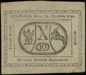 10 groszy miedziane 13.08.1794; Lucow 40 (R1), Miłczak ...
