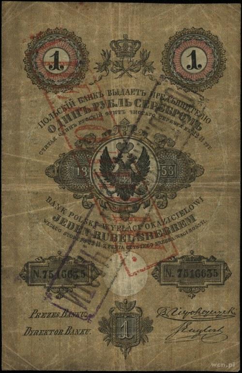 1 rubel srebrem 1858, podpisy: B. Niepokoyczycki, S. En...