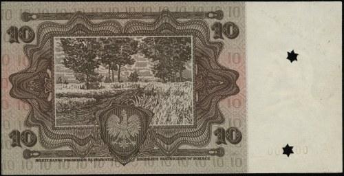 próba kolorystyczna banknotu 10 złotych emisji 2.01.192...