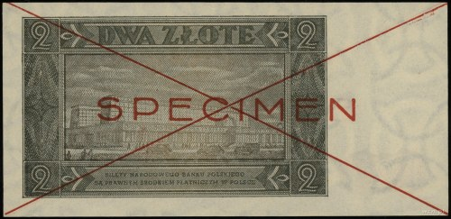 2 złote 1.07.1948, seria B 1234567, czerwone dwukrotne ...