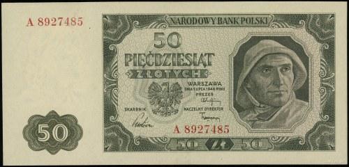 50 złotych 1.07.1948, seria A 8927485; Lucow 1281 (R5),...