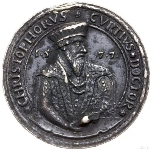 Krzysztof Curtius - lekarz żagański, medal z 1577 r.; A...