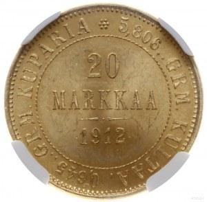 20 marek 1912/ S, Helsinki; Bitkin 390, Fr. 3; złoto pr...